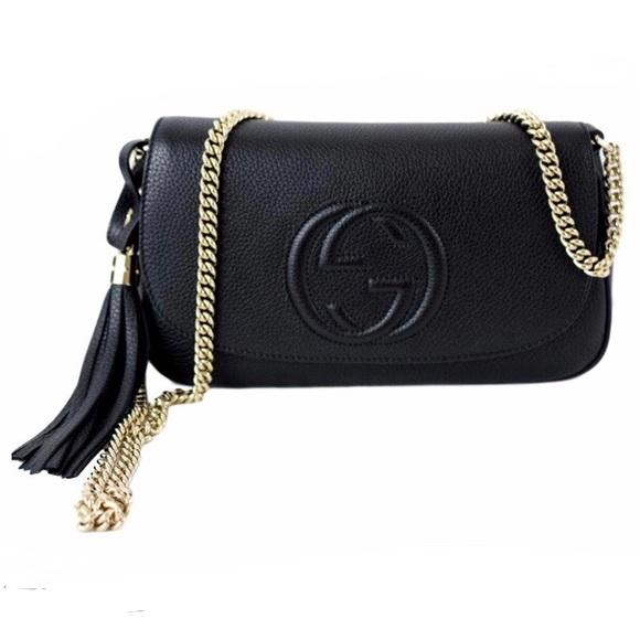 Gucci Handbags - *SOLD ON Ⓜ️* Gucci Soho GG Chain Black Leather Bag